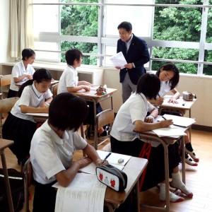 古賀東中学校「朝勉&朝弁」視察