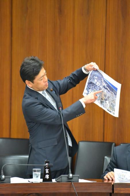 宮内秀樹、国土交通委員会での質問風景