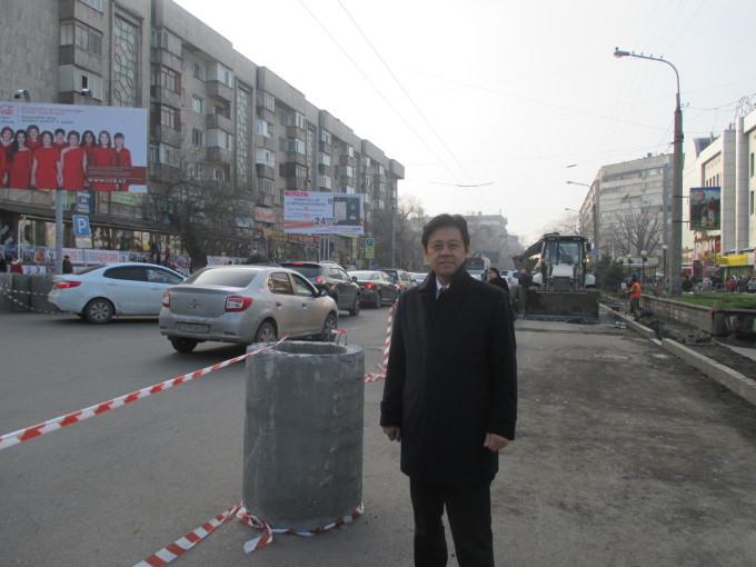 カザフスタン最大の都市アルマティは5度と随分暖かい