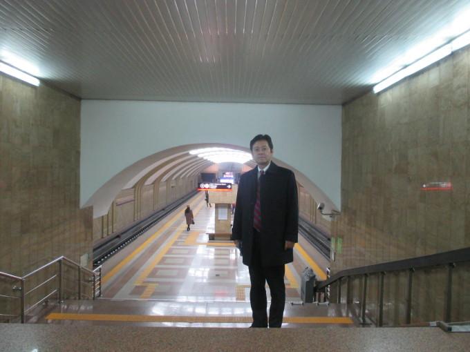 アルマティの地下鉄駅構内